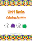 Unit Rate Coloring Activity