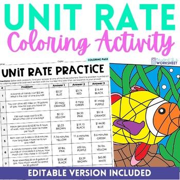 Unit Rate Activity