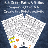 Comparing Unit Rate Word Problems Create the Riddle Activity