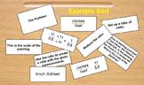 Unit Rate & Complex Fraction Sort