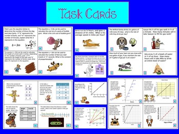 Unit Rate / Constant of Proportionality Bundle 35 Page Resource