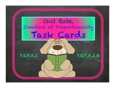 Unit Rate ~ Constant of Proportionality Task Cards 7.RP.A.