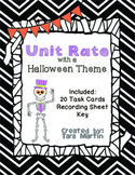 Unit Rate {Halloween Math Task Cards & Recording Sheet}