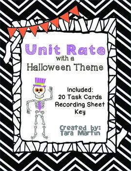 Unit Rate {Halloween Math Task Cards & Recording Sheet}