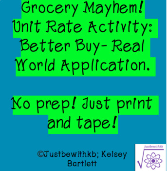 Unit Rate Math Rotations- Grocery Mayhem!