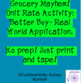 Unit Rate Math Rotations- Grocery Mayhem!