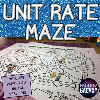 Unit Rate Maze
