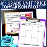 Unit Rate Mini-Project Digital or Printable