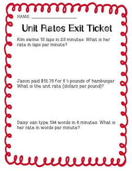 Understand unit rates using fractional rates | LearnZillion