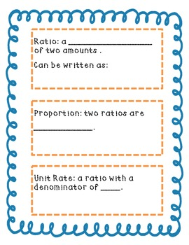 Unit Rate Notes *FREEBIE*