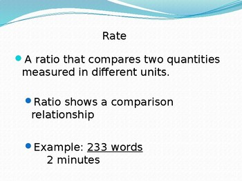 Unit Rate - Notes, Practice & Application