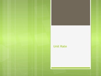 Unit Rate PowerPoint