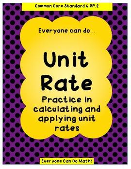 Unit Rate Practice