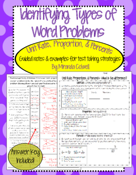 Unit Rate, Proportion, & Percent Word Problem Test Prep
