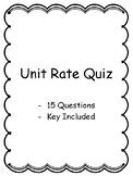 Unit Rate Quiz