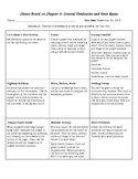 Unit Rate, Ratios, Mean, Median, Mode and Range Choice Board