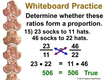 Unit Rate, Ratios, and Proportions in a PowerPoint Presentation