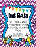 Unit Rate Real World Problems {Task Cards & Butterfly Color by Number}