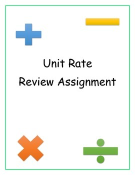 Unit Rate Review Assignment