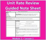 Unit Rate Review Guided Note Sheet
