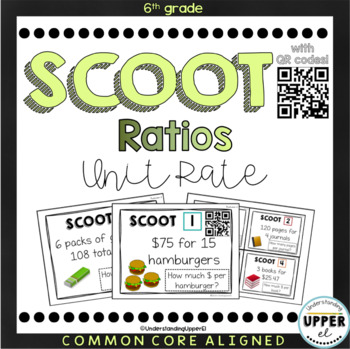 Unit Rate SCOOT Activity - with AND without QR Codes!