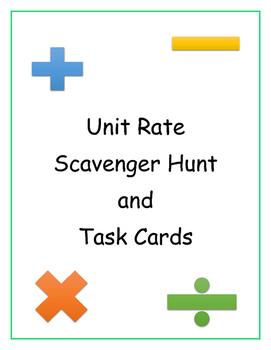 Unit Rate Scavenger Hunt