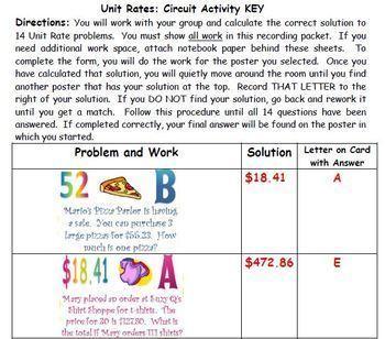 Unit Rate Scavenger Hunt BUNDLE (QR and Non QR) Great Unit or STAAR Rev