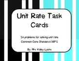 Unit Rate Task Cards Activity or Station
