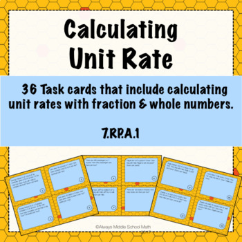 Unit Rate Task Cards (Scoot!)
