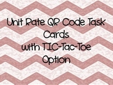 Unit Rate Task Cards with Tic Tac Toe Option