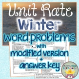 Unit Rate Winter Word Problems