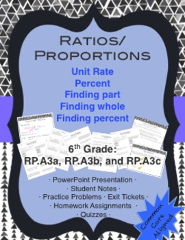 Unit Rate and Percent Lesson Pack· {6th Grade.RP.A3}