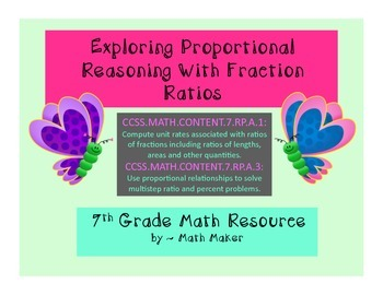 Unit Rate and Proportional Reasoning Problems Involving Complex Fractions 7 grd