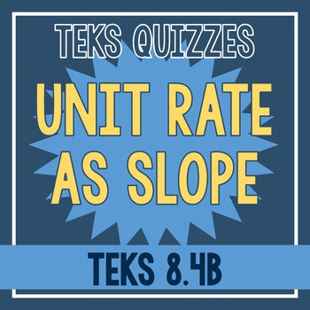 Unit Rate as Slope Quiz (TEKS 8.4B)