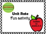 Unit Rate fun activity