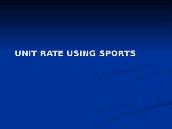 Unit Rate using Sports Contracts