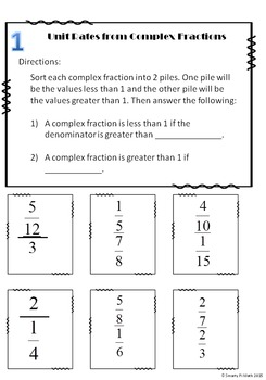 Unit Rate with Complex Fractions 7.RP.1