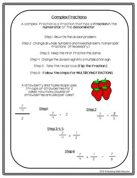 Unit Rate with Complex Fractions Task Cards
