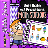 Unit Rate with Fractions Math Stations