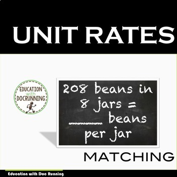 Unit Rates Task Card Activity (CCSS.8.EE.B.5)