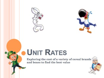 Unit Rates Activity - Buying Cereal