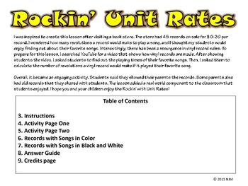 Unit Rates Activity {Interactive Notebook}