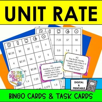 Unit Rates Bingo