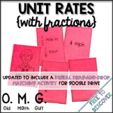 Unit Rates (with Fractions) Card Game
