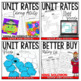 Rates to Unit Rates Activity Pack