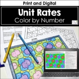 Unit Rates Color by Number