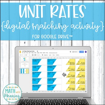 Unit Rates DIGITAL Matching Activity for Google Drive™