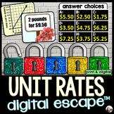 Unit Rates Digital Math Escape Room