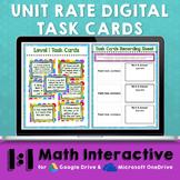 Unit Rates Digital Task Cards