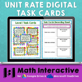 Unit Rates Digital Task Cards